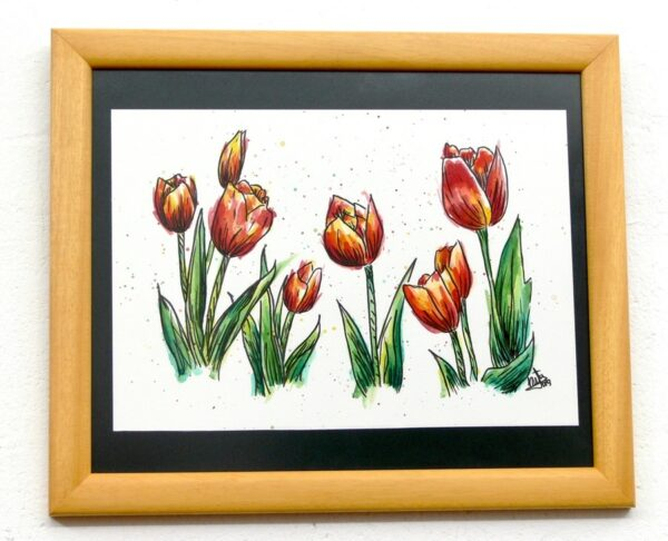 dibujo original tulipanes de natadpb ilustración