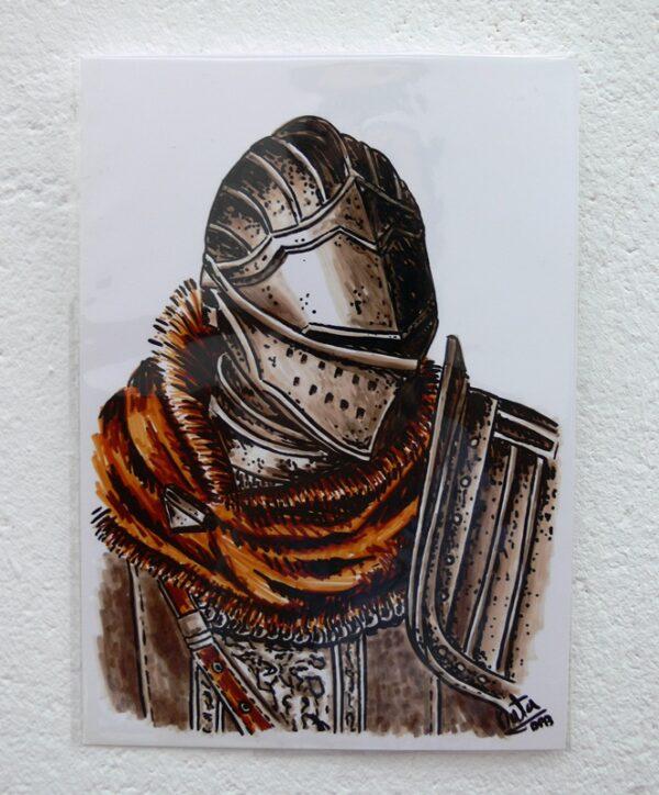 dibujo original oscar de astora de natadpb ilustración
