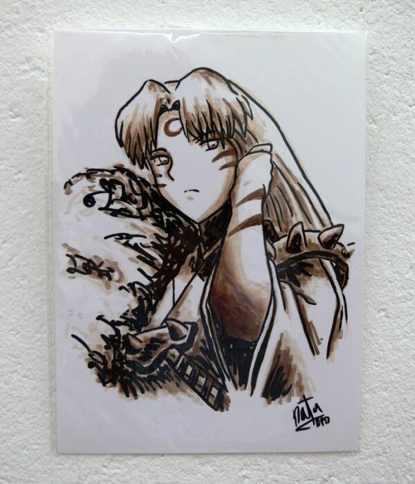 dibujo original sesshomaru de natadpb ilustración