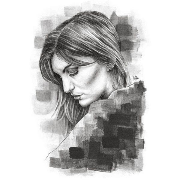 retrato grafito ejemplo natadpb ilustracion